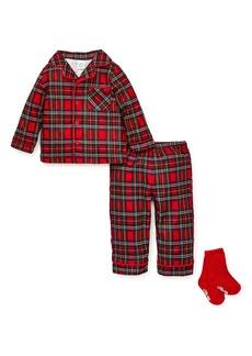 Little Me Plaid Two-Piece Pajamas & Socks Set (Toddler Boys & Little Boys)