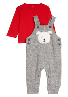 Little Me Puppy Face Overalls & T-Shirt Set (Baby)