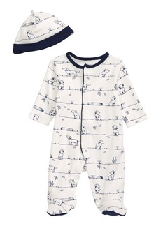 Little Me Puppy Footie & Hat Set (Baby) (Nordstrom Exclusive)