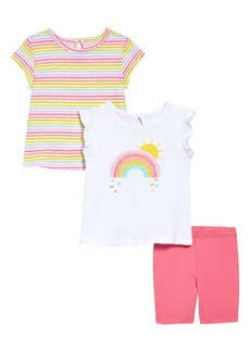 Little Me Rainbow T-Shirts & Shorts Set (Baby)