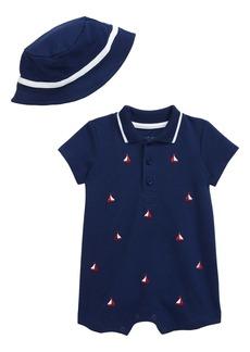 Little Me Romper & Hat Set (Baby)