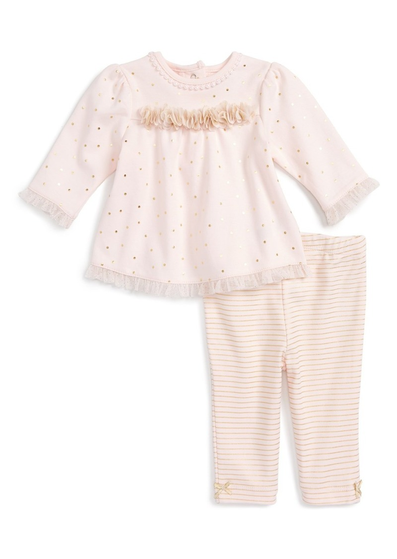Little Me Rose Tunic & Leggings Set (Baby Girls)