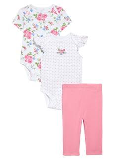 Little Me Roses Bodysuits & Leggings Set (Baby)