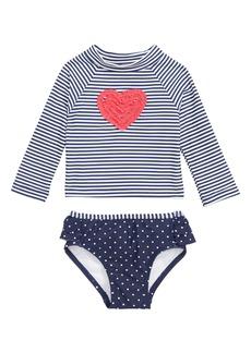 4fcc4dc226 Little Me Ruffle Heart Two-Piece Rashguard Swimsuit (Baby)