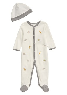 Little Me Safari Footie & Hat Set (Baby)