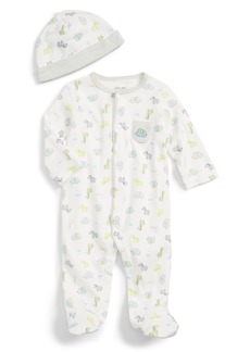 Little Me Safari Footie & Hat Set (Baby)
