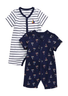 Little Me Sailboat 2-Pack Rompers (Baby)
