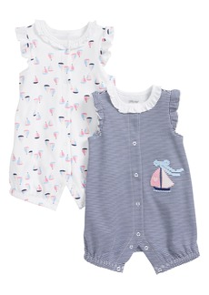 Little Me Sailboat 2-Pack Rompers (Baby Girls)