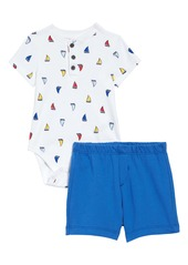 Little Me Sailboat Bodysuit & Shorts Set (Baby)