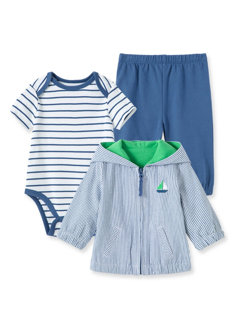 Little Me Sailboat Bodysuit, Pants & Jacket Set (Baby)