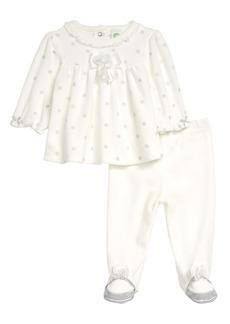 Little Me Shiny Dot Velour Top & Leggings Set (Baby)