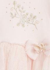 Little Me Sparkle Rose Dress & Leggings Set (Baby Girls)