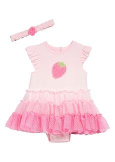 Little Me Strawberry Tutu Popover Bodysuit & Headband Set (Baby)