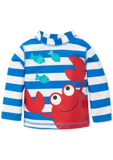 Little Me Striped Crab Rash Guard, Baby Boys