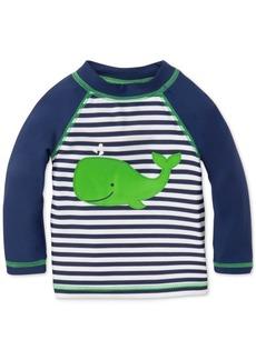 Little Me Striped Whale Rash Guard, Baby Boys