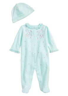 Little Me Sweet Flower Footie & Hat Set (Baby Girls)