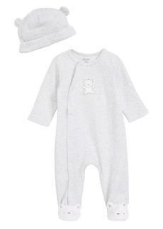 Little Me Teddy Bear Footie & Beanie Set (Baby) (Nordstrom Exclusive)