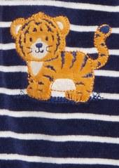 Little Me Tiger Stripe Footie (Baby Boys)