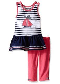Little Me Toddler Girls' Sailboat Tunic with Capri Set Multi