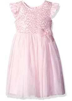 Little Me Girls' Toddler Sequin Dress with Panty