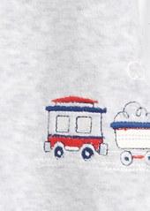 Little Me Train Velour Footie (Baby Boys)
