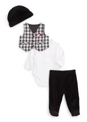 Little Me Vest, Bodysuit, Pants & Hat Set (Baby Boys)