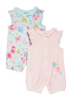 Little Me Watercolor 2-Pack Rompers (Baby)