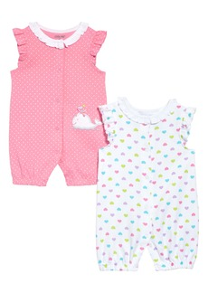 Little Me Whale 2-Pack Romper Set (Baby)