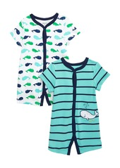 Little Me Whale 2-Pack Rompers (Baby)