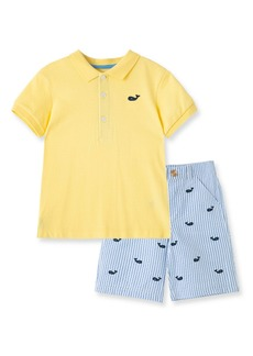 Little Me Whale Polo & Shorts Set (Baby)