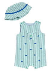 Little Me Whale Romper & Hat Set (Baby)