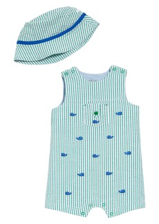 Little Me Whale Romper & Hat Set (Baby)