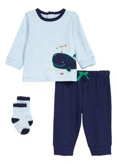 Little Me Whale T-Shirt, Joggers & Socks Set (Baby)