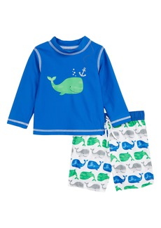 Little Me Whale Two-Piece Rashguard Swimsuit (Baby) (Nordstrom Exclusive)