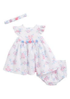 Little Me Whimsical Dress & Headband Set (Baby Girls)