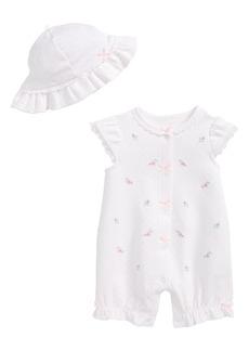 Little Me Whimsical Romper & Hat Set (Baby Girls)