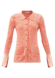 Live The Process Marl slit-cuff rib-knitted cardigan