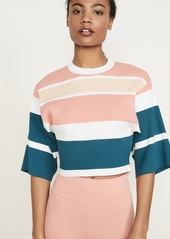 LIVE THE PROCESS Striped Crop Tee