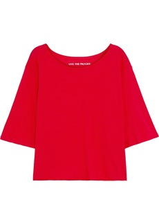 Live The Process Woman 3/4 Cotton And Cashmere-blend Jersey T-shirt Red