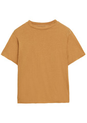 Live The Process Woman Cotton And Cashmere-blend Jersey T-shirt Marigold