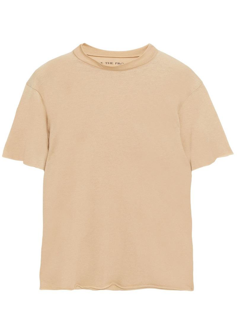 Live The Process Woman Boy Cotton And Cashmere-blend T-shirt Beige