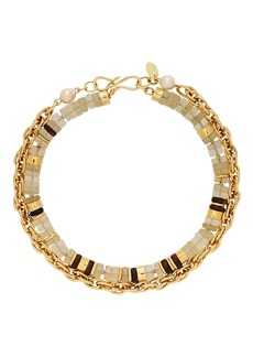 Lizzie Fortunato Eva Beaded Chain-Link Necklace