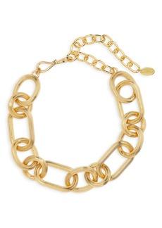 Women's Lizzie Fortunato Chain Link Collar Necklace