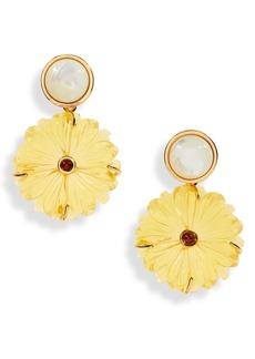 Women's Lizzie Fortunato Golden Eye Flower Drop Earrings