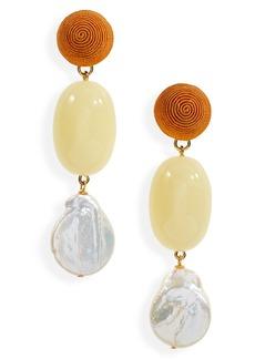 Women's Lizzie Fortunato Golden Field Drop Earrings