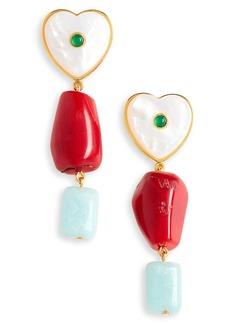 Women's Lizzie Fortunato I'M In Love Drop Earrings