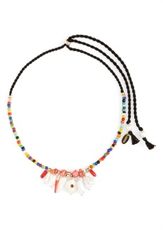 Women's Lizzie Fortunato Isola Genuine Pearl Charm Beaded Necklace
