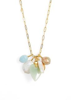 Women's Lizzie Fortunato Serpentine Charm Necklace