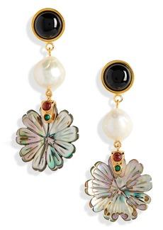 Women's Lizzie Fortunato Still Life Genuine Pearl Drop Stud Earrings