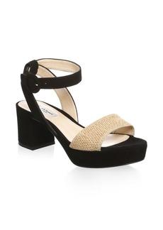L.K. Bennett Block Heel Leather Platform Sandals